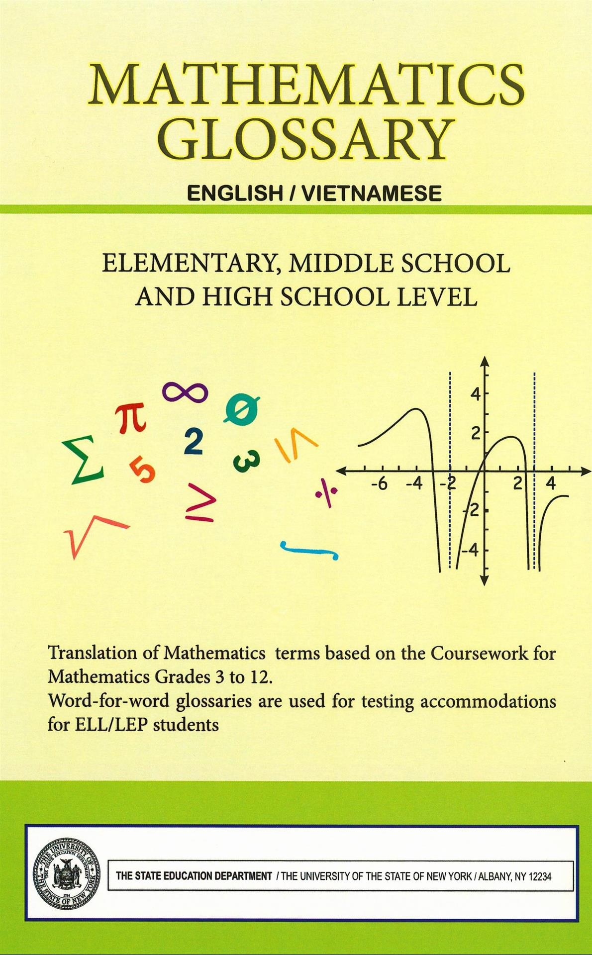 Mathematics Glossary / English  Vietnamese