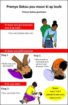 Premye sekou pou moun ki ap toufe (Emergency Care for Choking in Haitian Creole)