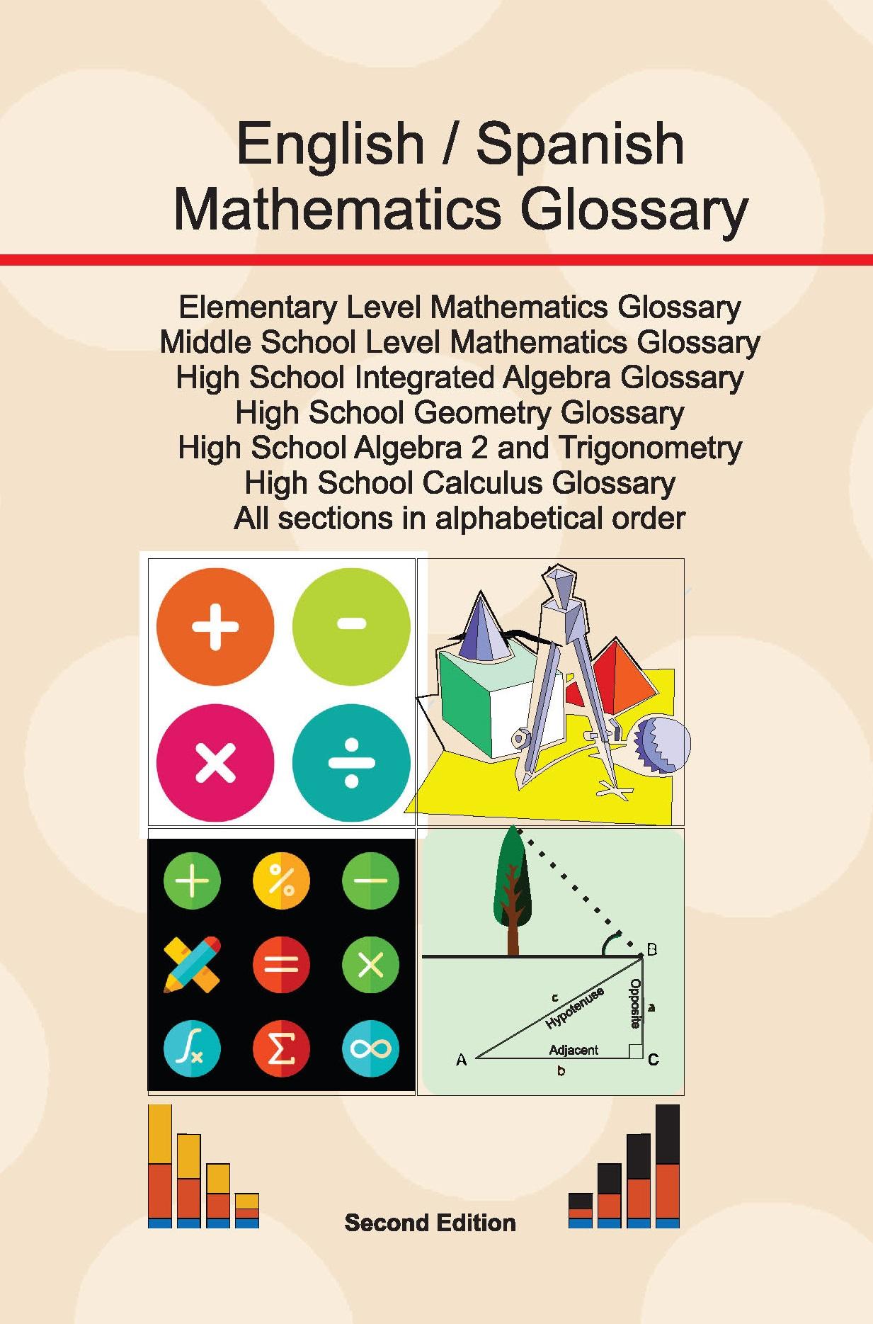 Mathematics Glossary  English/Spanish  Elementary, Middle School and High School Level.