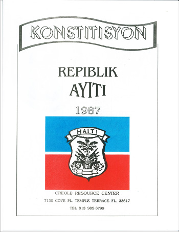 Konstitisyon Repiblik Ayiti 1987