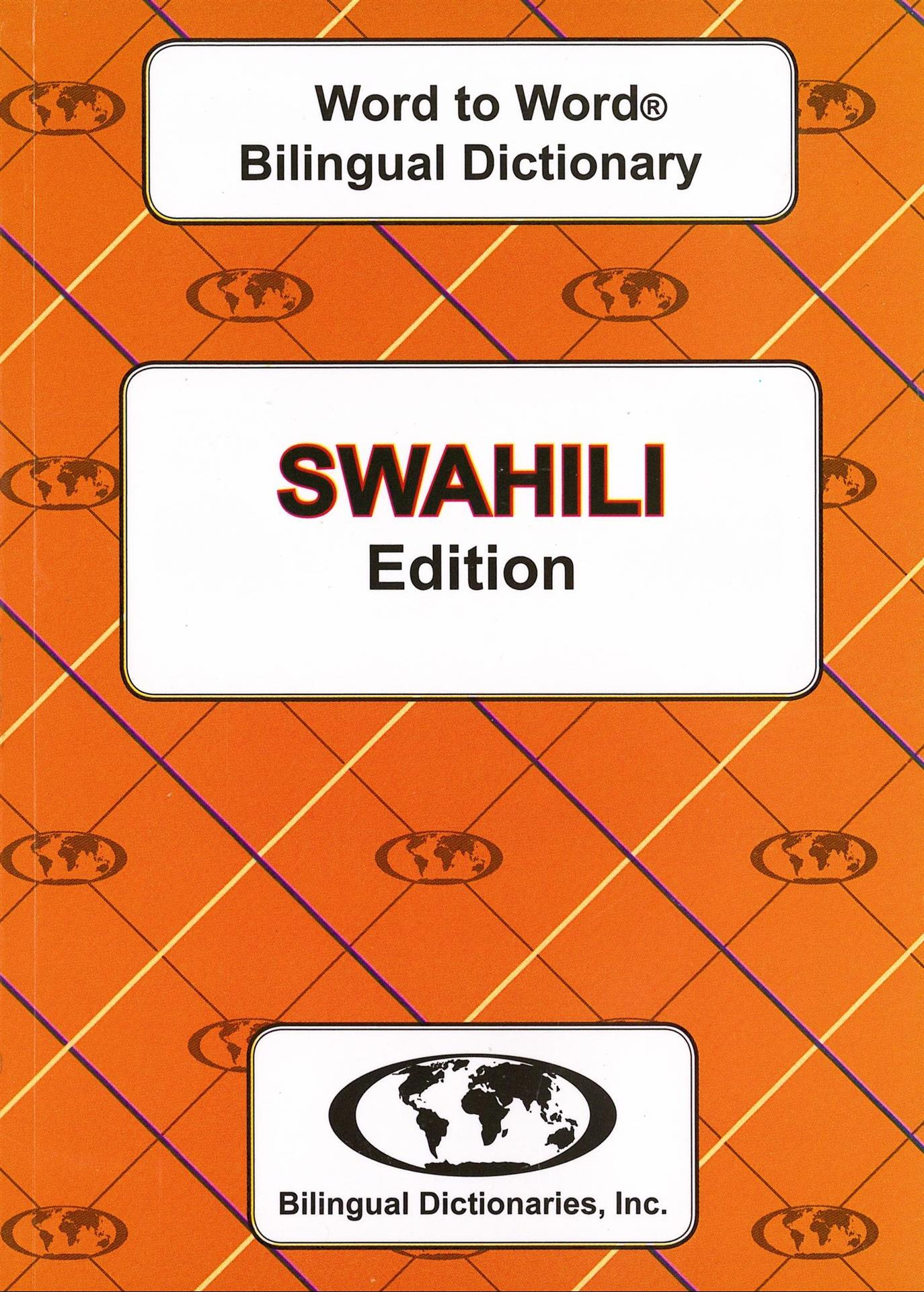 SWAHILI Word to Word Bilingual Dictionary