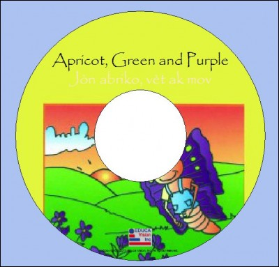Interactive ebook : Apricot, Green and Purple/ Jòn abriko, vèt ak mov