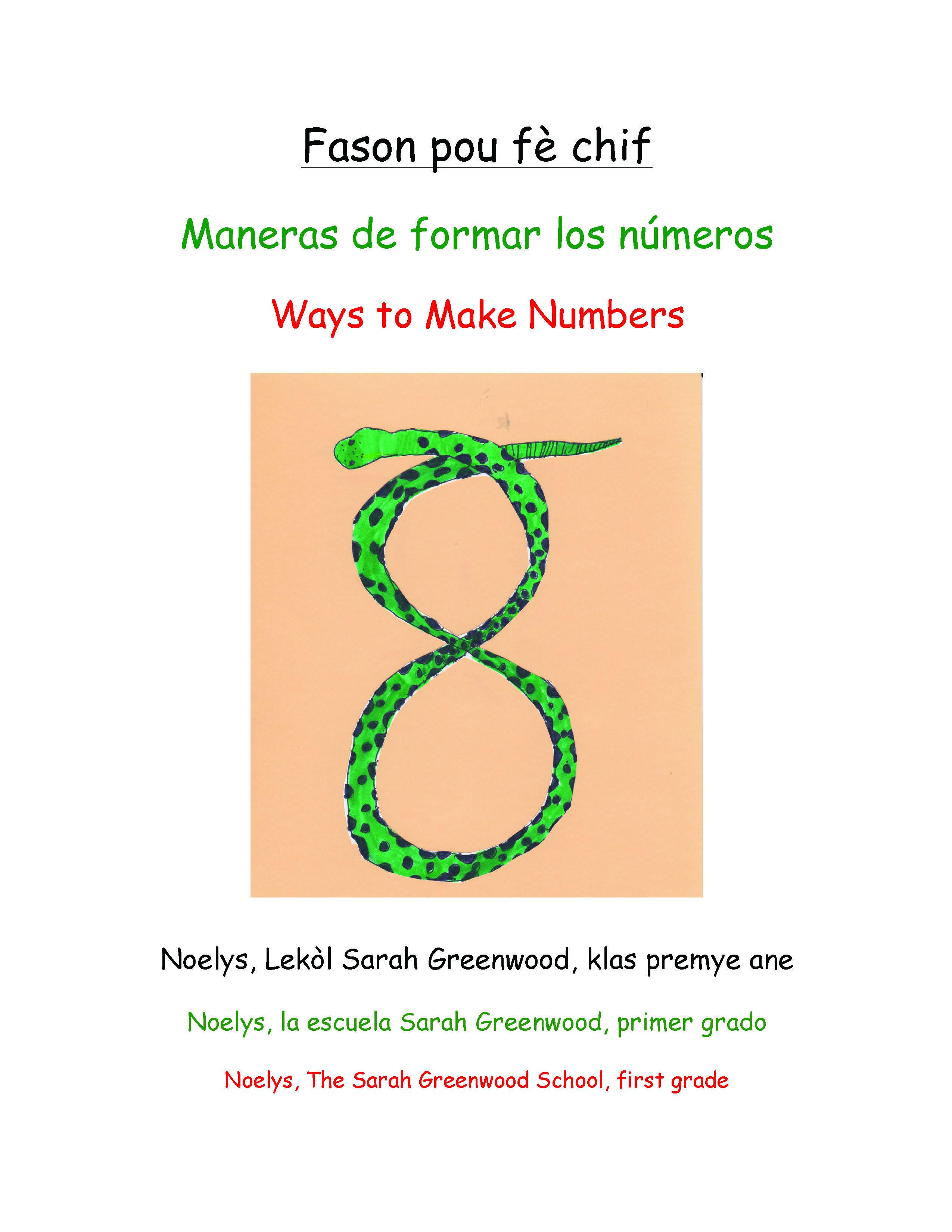 Fason pou fè chif / Ways to Make Numbers